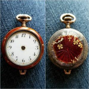 Vintage Argent Dore watch for parts repair enamel